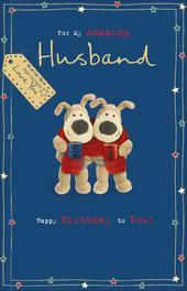 Boofle My Amazing Husband Birthday Greeting Card