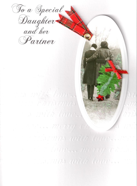 Daughter & Her Partner Luxury Retro 3D Christmas Card