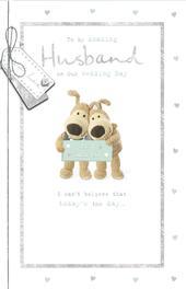 Boofle Amazing Husband Wedding Greeting Card