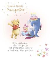 Disney Pooh Bear Special Daughter Birthday Greeting Card