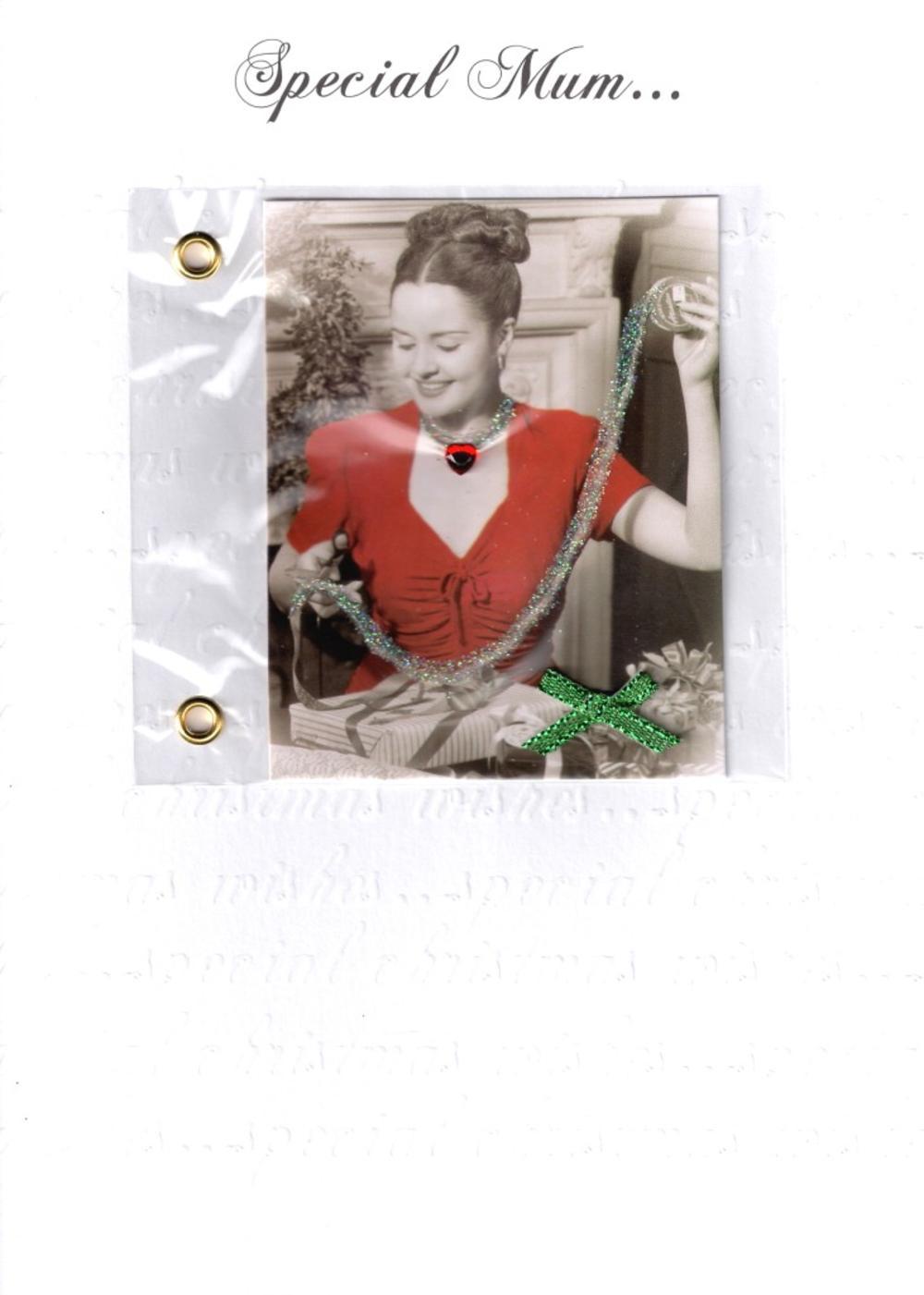 Mum Luxury Retro 3D Christmas Card