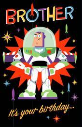 Disney Toy Story Buzz Brother Birthday Greeting Card