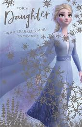 Frozen Queen Elsa For A Daughter Birthday Greeting Card