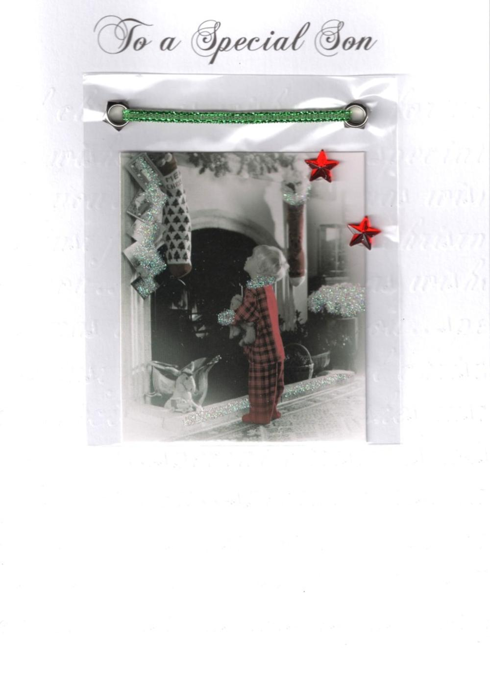Son Luxury Retro 3D Christmas Card