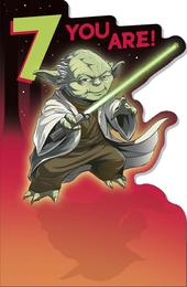 Star Wars 7 You Are Yoda 7th  Birthday Greeting Card