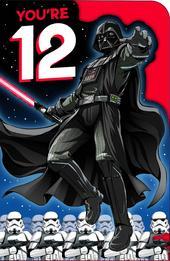 Star Wars You're 12 Darth Vader  Birthday Greeting Card