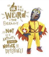 Disney Muppets Ok Be Weird Gonzo Birthday Greeting Card
