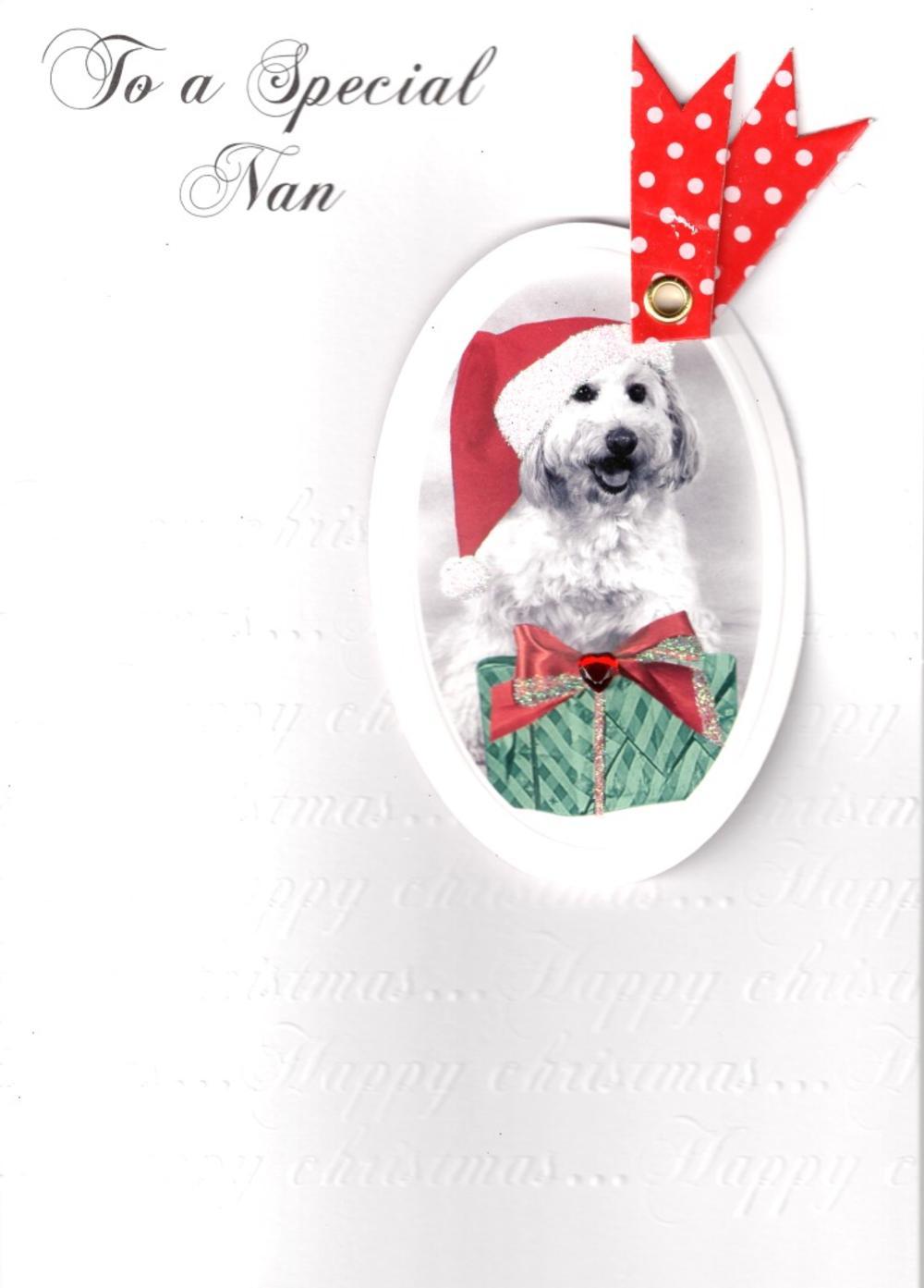 Nan Luxury Retro 3D Christmas Card