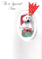Nan Luxury Retro 3D Christmas Card