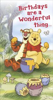 Disney Winnie The Pooh & Tigger Birthday Greeting Card