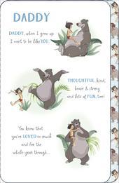 Disney Jungle Book Daddy Birthday Greeting Card