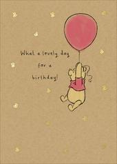 Disney Pooh Bear What A Lovely Day Birthday Greeting Card