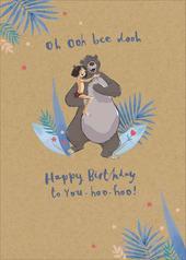 Disney Jungle Book Oh Ooh Bee Dooh Birthday Greeting Card