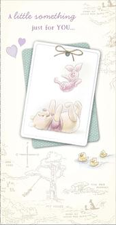 Disney Pooh & Piglet Just For You... Birthday Money Wallet