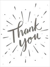 Pack Of 10 Thank You Modern Greeting Cards Notelets