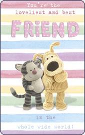Boofle Loveliest & Best Friend Keepsake Credit Card & Mini Envelope Small Gift