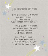 I'm So Proud Of You You're Amazing Greeting Card Blank Inside