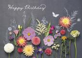 Wonderful Day Floral Flowers Birthday Greeting Card