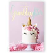 "Amazing Granddaughter Musical Birthday Card Singing ""Happy Birthday Dear Granddaughter"""
