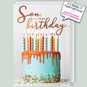 "It's Your Birthday Son Musical Birthday Card Singing ""Happy Birthday Dear Son"""
