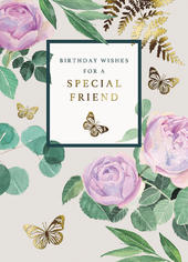 Wishes For A Special Friend Birthday Greeting Card