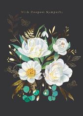 Deepest Sympathy Floral Sympathy Greeting Card