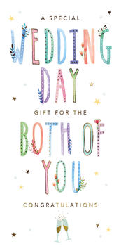 A Special Wedding Day Gift Money Wallet Greeting Card