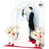 Congratulations Musical Pop-Up Wedding Day Greeting Card