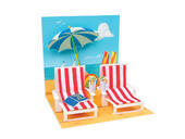 At The Beach Pop-Up Any Occasion Greeting Card