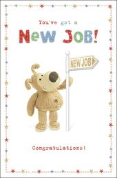 Boofle New Job Congratulations Greeting Card