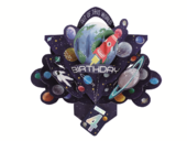 You're 4 Space Rocket 4th Birthday Pop-Up Greeting Card