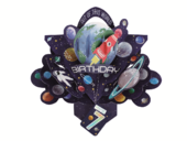You're 7 Space Rocket 7th Birthday Pop-Up Greeting Card