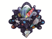 Amazing Cousin Space Rocket Birthday Pop-Up Greeting Card