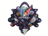 Great Grandson Space Rocket Birthday Pop-Up Greeting Card