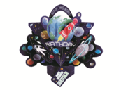 Amazing Brother Space Rocket Birthday Pop-Up Greeting Card