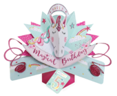You're 5 Magical Unicorn 5th Birthday Pop-Up Greeting Card
