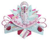 Special Daughter Magical Unicorn Birthday Pop-Up Greeting Card