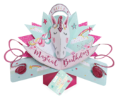 Great Granddaughter Magical Unicorn Birthday Pop-Up Greeting Card