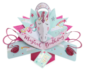 Special Niece Magical Unicorn Birthday Pop-Up Greeting Card