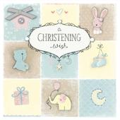 A Christening Wish Happiness Christening Greeting Card