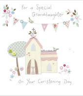 Granddaughter On Your Christening Greeting Card