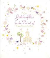 Goddaughter Happy Christening Day Greeting Card