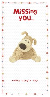 Boofle Missing Every Day Missing You Greeting Card