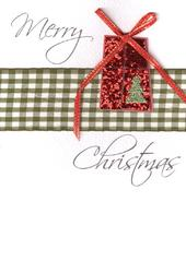 Merry Christmas Lovely Embellished Christmas Greeting Card