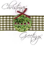 Bauble Lovely Embellished Christmas Greeting Card