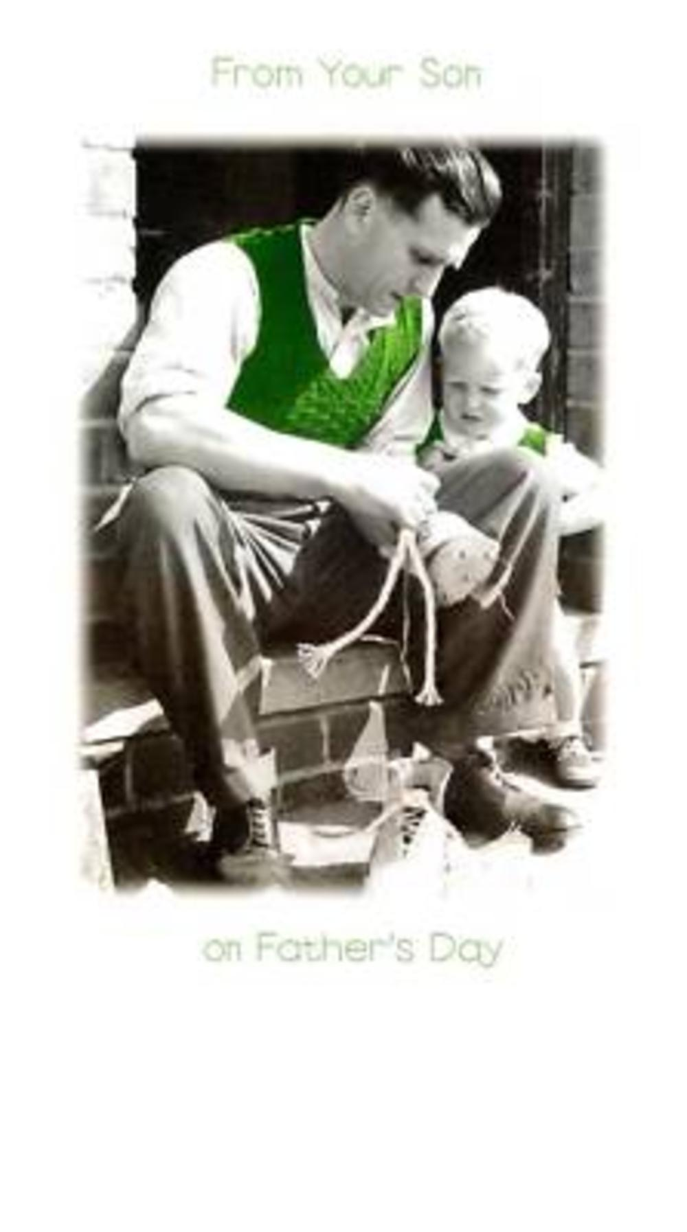 Dad From Son Walk Shoes Father's Day Card