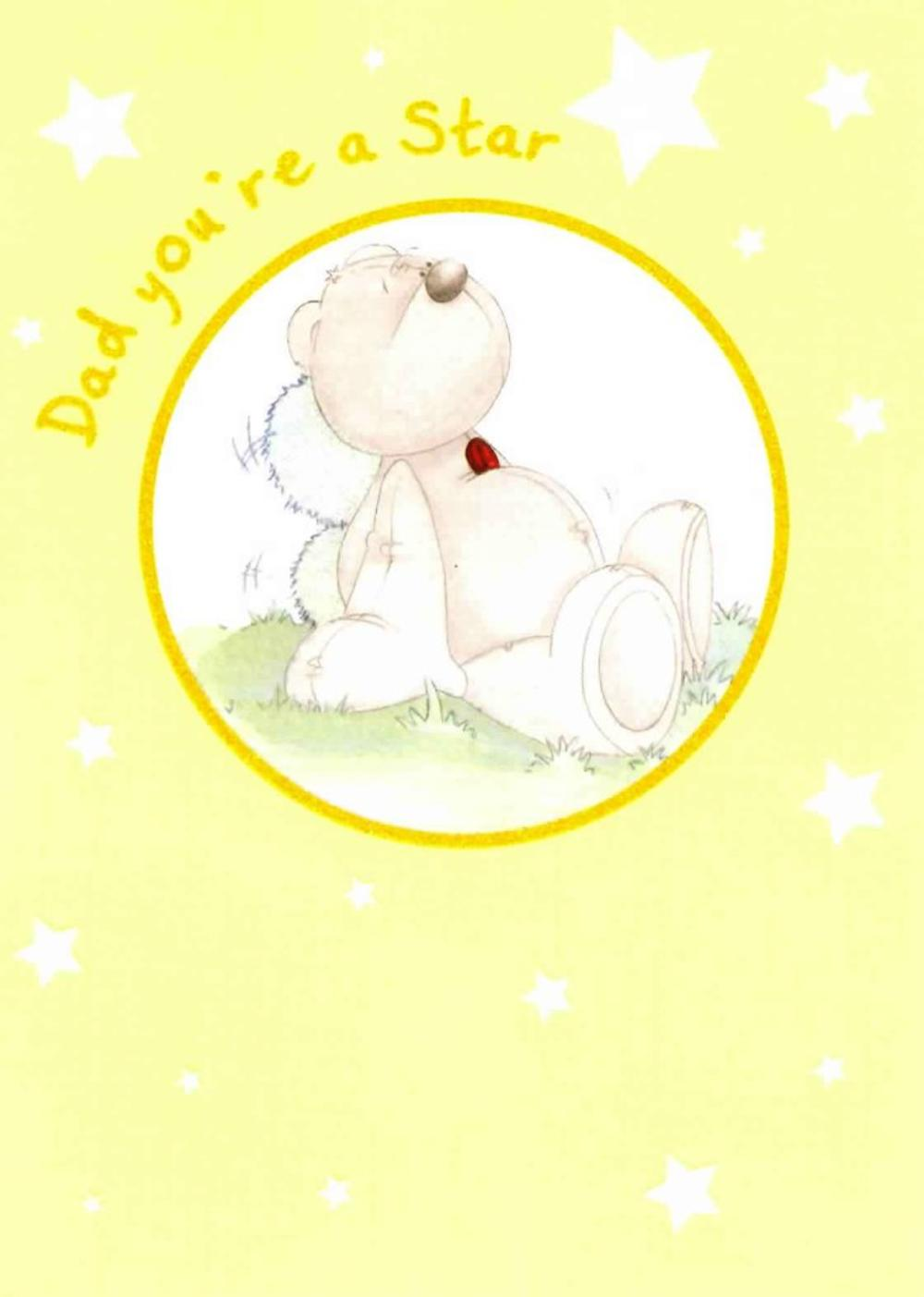 Cute Dad Star Father's Day Card