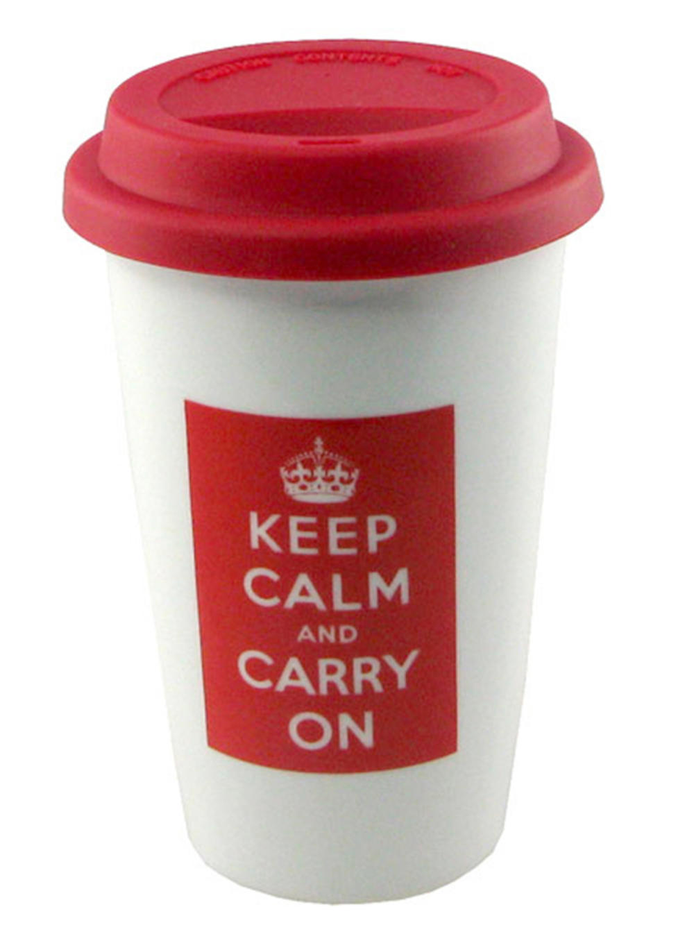 Keep Calm & Carry On Travel Mug