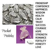 Pocket Pebbles Gift Favour & Organza Bag Choice Words