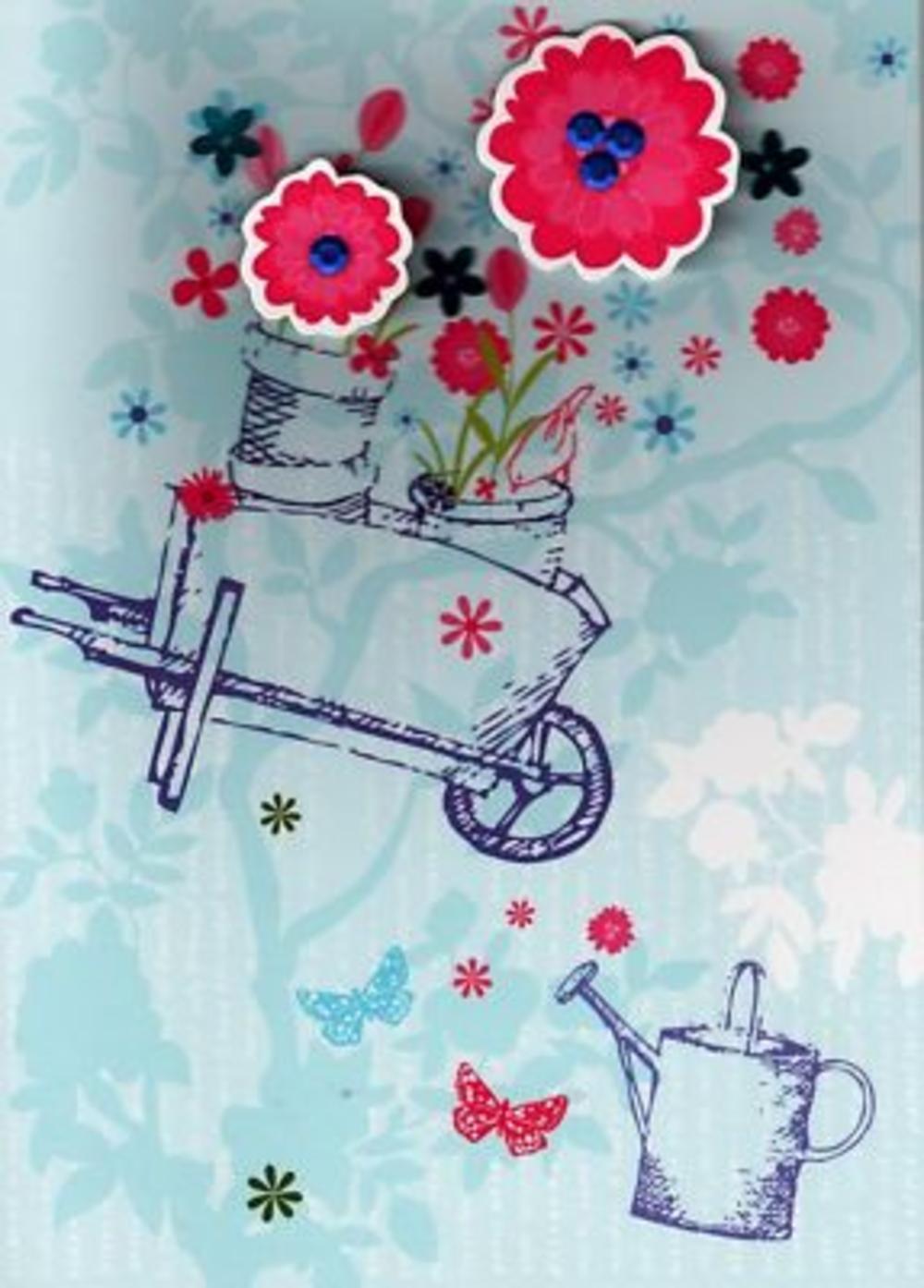 Luxury 3D Handcrafted Birthday Cards Gardening Card